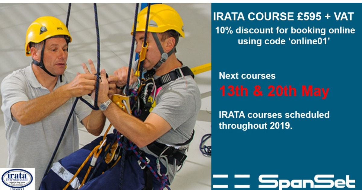 Last space available IRATA course 13th May