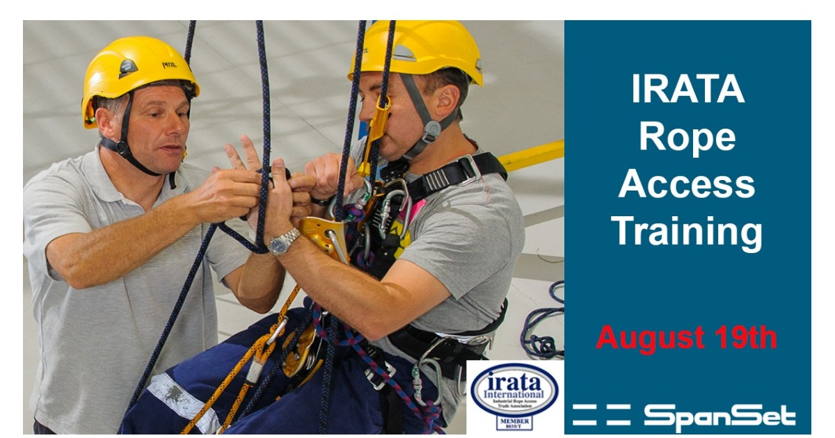 IRATA Rope Access Training £595 + VAT with 10% off when you book online using code online01.