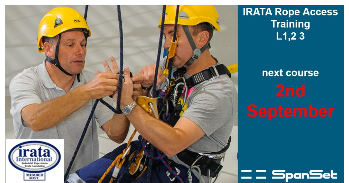 IRATA Rope Access Training  Course £595 + VAT with further 10% discount for booking online with code 'online01'