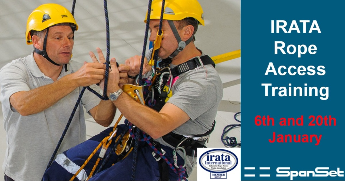 IRATA Rope Access Training Course dates for January announced.