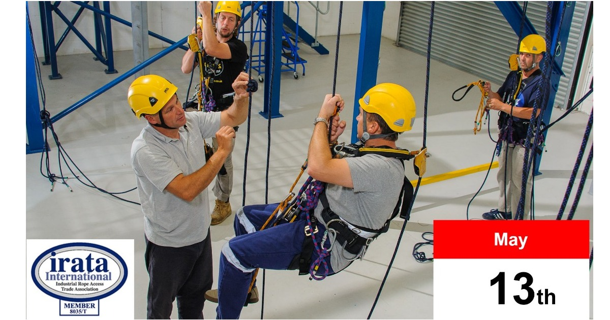 IRATA Rope Access Training course - May 13th, 3 spaces available. £595 + VAT. Excellent facilities, based in Middlewich.