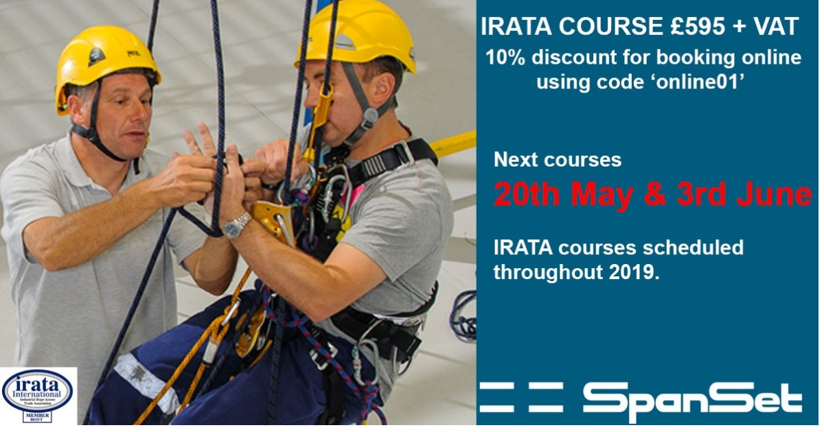 IRATA course - Book online for 10% discount - availability remaining for next week.