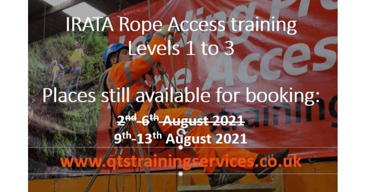 IRATA Rope Access - dates available