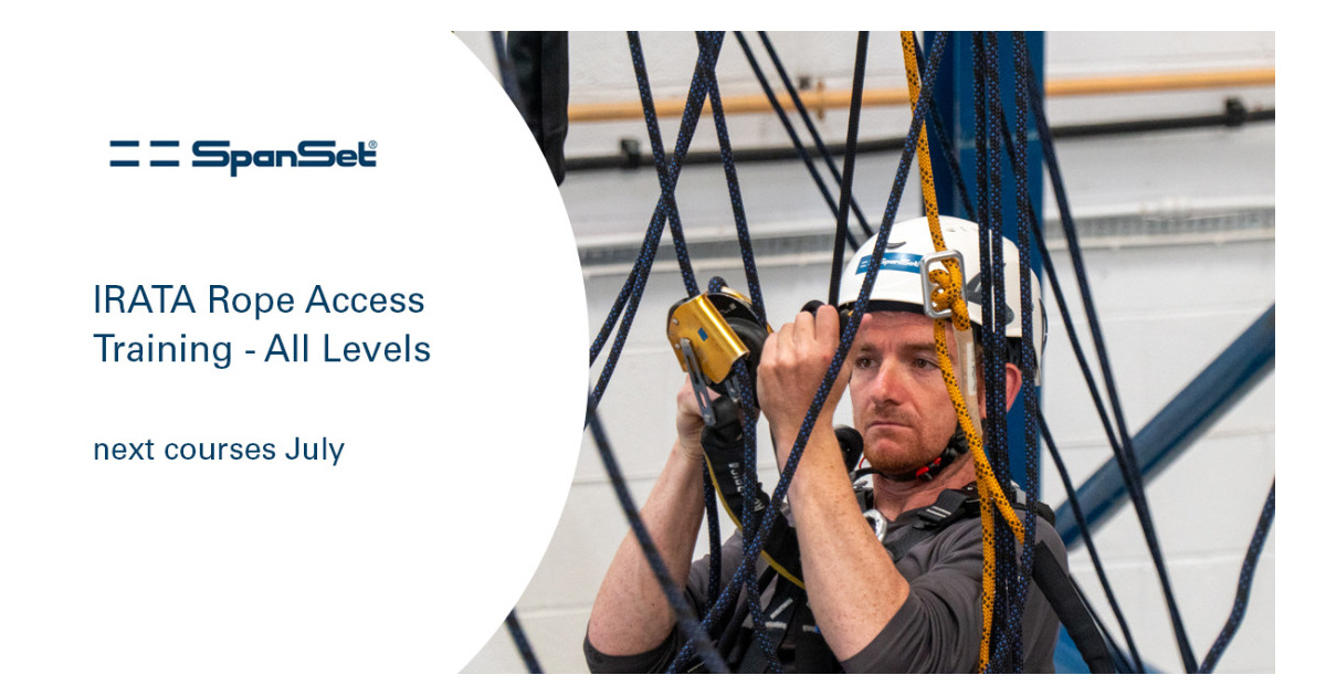 Last minute IRATA Rope Access Course available with 10% discount
