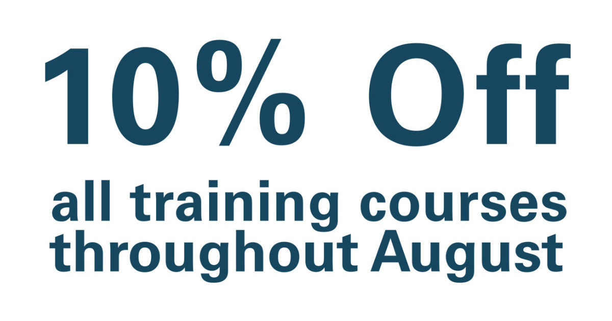 Support from SpanSet - 10% off all training courses in August!