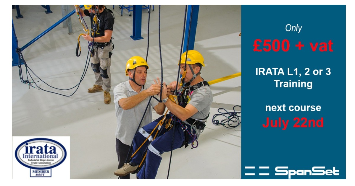 July offer - IRATA Rope Access Training Course £500 + VAT