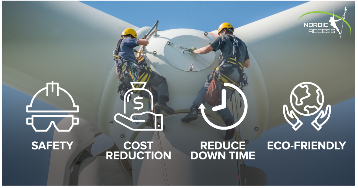 Nordic Access provides a wide array of wind turbine services